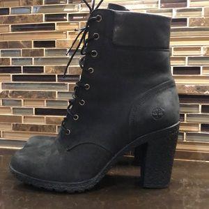 Timberland earthkeeers black heeled boots